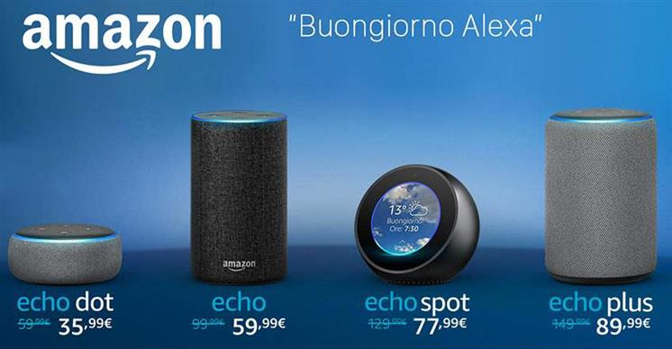Amazon Alexa finalmente in Italia